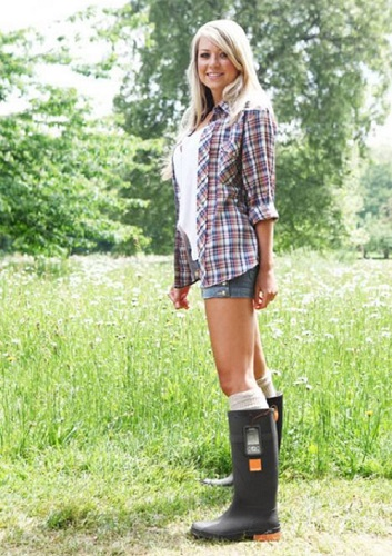 Boots that charge up phone batteries with nothing more than the heat from the wearer's feet. The boots use the Seebeck Effect to transfer temperature changes directly into electricity.